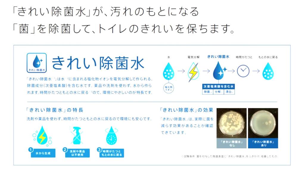 きれい除菌水について